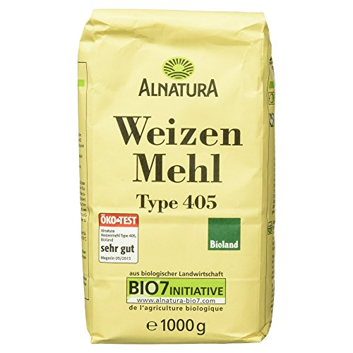 Alnatura Bio Weizenmehl, Type 405, 6er Pack (6 x 1 kg)