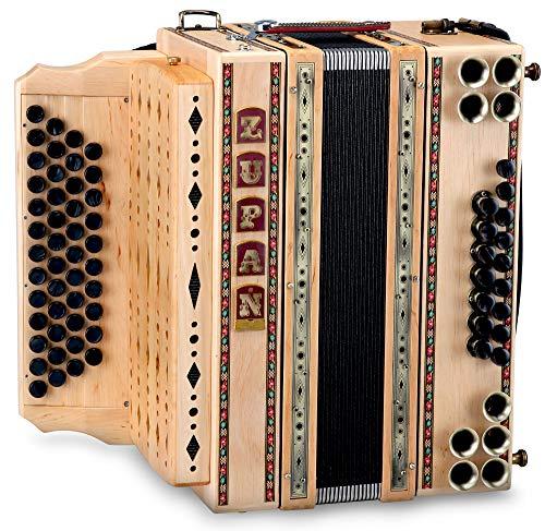 Zupan Eco 4/III Harmonika B-Es-As-Des Erle (46 Diskant, 16 Bass, 8 Helikon, Knopf-Akkordeon) Holz natur