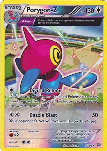 Tarjeta Pokémon 67/98Porygon-Z Holo serie XY–Origines Antiques XY7–Neuve Francaise