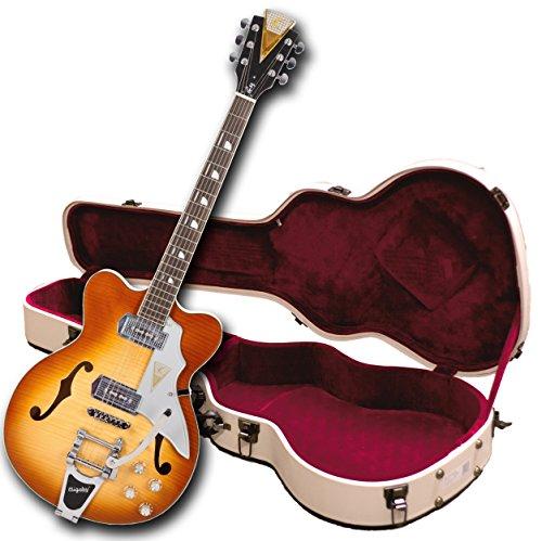 Kay Vintage Reissue K775VS Jazz II E-Gitarre mit Bigsby Tremolo, Iced Tea Sunburst