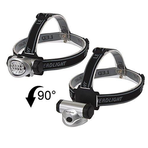 Ndier 2-Pack lámpara Frontal lámpara de Bolsillo para la Carrera a pie, el Camping, Lectura, Pesca, Caza, Senderismo, Correr Head Light Resistente, Ligero Productos casa