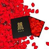 POZY Rosenblätter mit edler Aufbewahrungsbox [3.000 Stück] romantische Dekoration zur Hochzeit & Schlafzimmer - wunderschöne Rosenblüten als Jahrestag Geschenk für ihn -...
