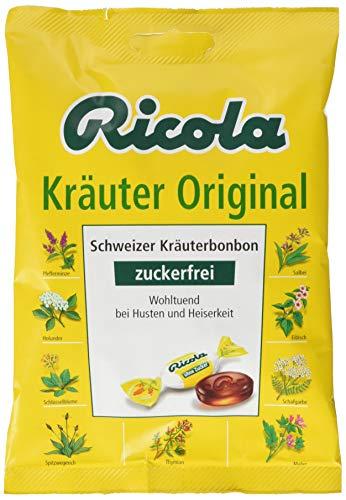 Ricola Kräuter Original, Schweizer Kräuterbonbon, 18 x 75g Beutel, ohne Zucker, Wohltuend für Hals und Stimme*