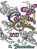 Coloring Calendar 2021 Butterflies