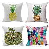 Nunubee Kissenbezug Spezial Stil kunst der ananas cushion cover Sofa Büro Dekorativ 45*45cm...