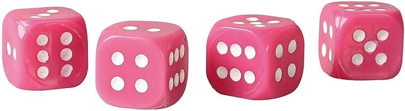 Lampa 02461 Dice Valve Caps-Pink/Black Fleck
