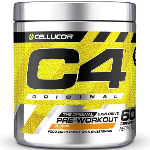 C4 Original - Suplemento en polvo para preentrenamiento - Naranja | Bebida energética para antes de entrenar | 150 mg de cafeína + beta alanina + monohidrato de creatina | 30 raciones