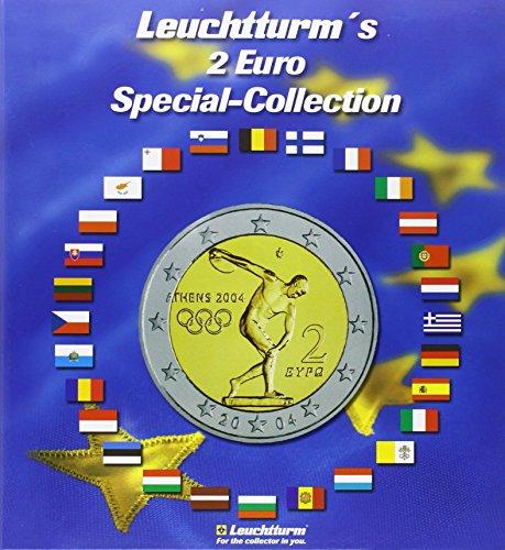 2-EUR (Euro) Special-Collection: für 57 2-EUR-Münzen inkl. Flaggen-Stickerset