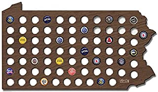 Wall Decor Leiacikl22 Designed Pennsylvania Beer Cap Map Cool Christmas Gifts for Boyfriend Beer Cap Holder for Beer Lovers Crafts 21.65 x 12.99