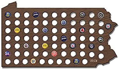 Wall Decor Leiacikl22 Designed Pennsylvania Beer Cap Map Cool Christmas Gifts for Boyfriend Beer Cap Holder for Beer Lovers C