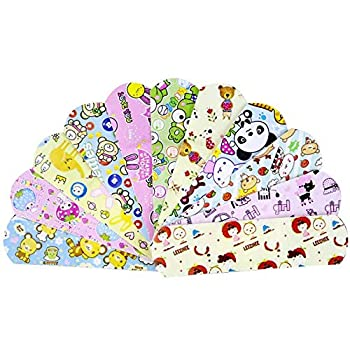 100PCs Waterproof Breathable Cute Cartoon Adhesive Bandages First Aid Emergency Kit for Kids Children
