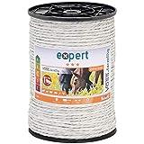 VOSS.farming Corda per recinzioni elettriche, Lunghezza 200 m e Larghezza ca.6 mm, con Fili in Acciaio Inox 7 x 0, 20, Colore Bianco