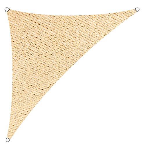 Cool Area 3,5x3,5x4,95m Dreieck Sonnensegel Sonnenschutz Segel, UV Schutz wetterbeständig HDPE atmungsaktiv