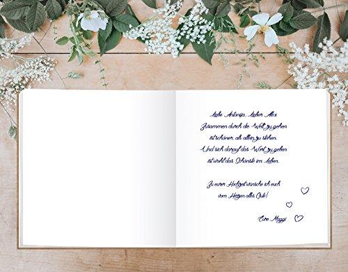 Hardcover Gästebuch mit weißen Seiten - 6
