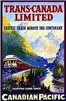 ERZAN大人のパズル木製パズル15001924のトランス-カナダカナダ太平洋ビンテージ鉄道旅行広告大人子供パズル