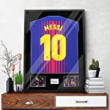 Snail 32'x24' Jersey Frame Display Case Wooden Wall Mounted Matt Black Shadow Box for Baseball Basketball Football Soccer Hockey Sport Shirt, Plus Displaying Two Idol's Photos and One Signature