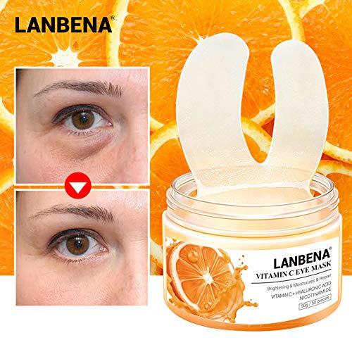 Metermall New for 50pcs/box Vitamin C Eye Patches Eye Mask Moisturizing Serum Remove Eye Bag Eye Lines Repair Brighten Lifting