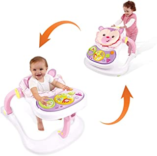 Baby Sit to Stand Walkers Toys,4-in-1 Activity Center,Entertainment Table, Educational Push Toy w/Breakfast Table (Shipped...