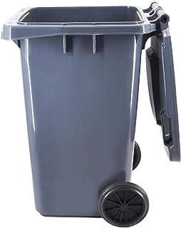 100L / 120L / 240L Wheelie Bin déchets plastiques bac de recyclage avec couvercle for Flap extérieur Cuisine Jardin Assain...