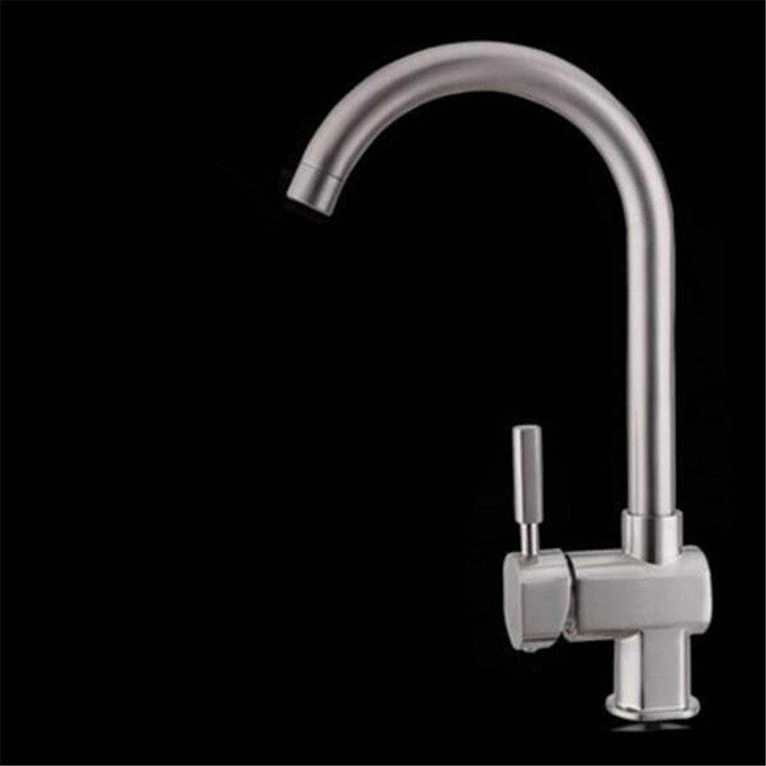 Oudan Lead-Free Copper Kitchen Mixer Drawing Whole Vegetables Basin Sink Mixer 304 Stainless Steel redary Joint to A Single Ceramic Valve Core Hole, A (color   B, Size   -)