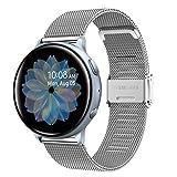 Cinturino per Galaxy Watch3 41mm/Galaxy Watch Active2 40mm 44mm, 20mm Cinturino per Orologio in Acciaio Inossidabile Intrecciato a Rete per Galaxy Watch 42mm/Gear Sport/Gear S2 Classic/Vivomove/HR