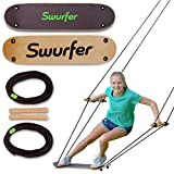 Swurfer The Original Tree Swing with Skateboard Seat Design and Adjustable Handles… (TreeSkate Natural)
