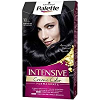 Palette Intense Cream Coloration Intensive Coloración del Cabello 1.1 Negro Azulado - Pack de 3