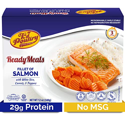 Kosher Salmon Fillet Fish, Parve MRE Meal Ready to Eat, Protein Food...