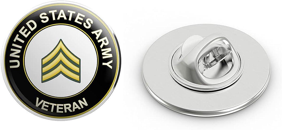 U.S. Army Sergeant Veteran Metal 0.75