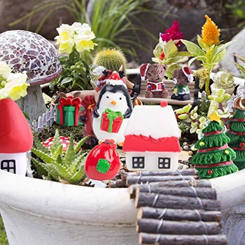 LOVESTOWN 38 PCS Fairy Garden Christmas Accessories, Christmas Miniature Ornaments, DIY Snow Globe Figurines, Christmas…