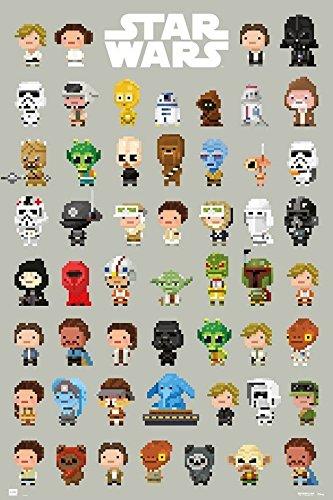 Grupo Erik Editores Poster Star Wars 8-Bit Characters