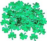 Día de San Patricio AOOF 1 Set de 45 g de confeti de resina de trébol para decoración de fiesta de día de San Patricio (verde)