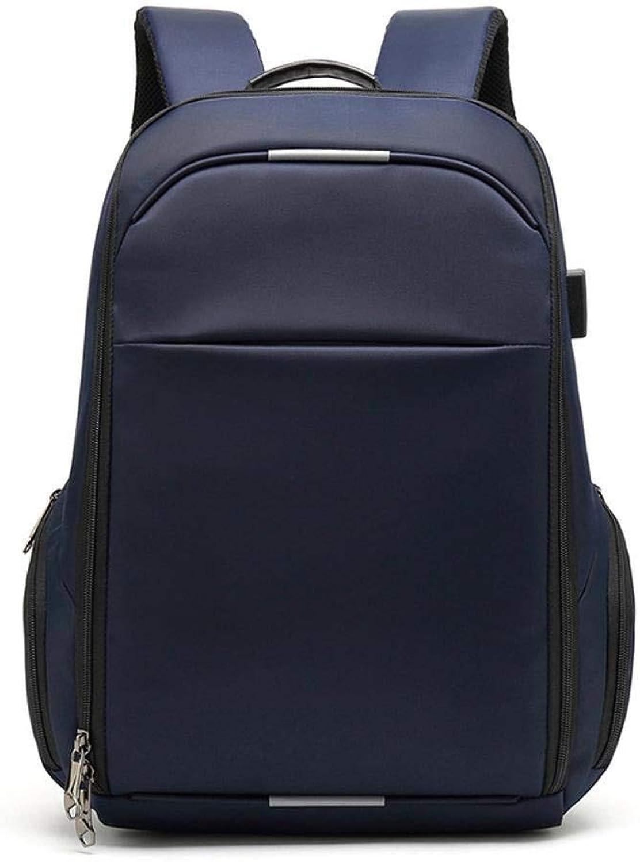 Lnyy Wanderrucksack Rucksack mnnlichen businesstasche Rucksack Wasserdichte Rucksack USB-Ladekabel Tasche 32  17  45 cm