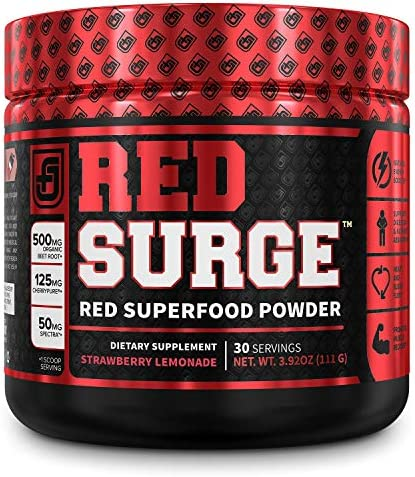 Red Surge Superfood Powder Nitric Oxide Supplement Beet Powder for Immune Support Blood Pressure product image