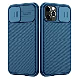 Nillkin Compatible for iPhone 12/12 Pro Case, CamShield Pro Series Case with Slide Camera Cover, Slim Stylish Protective Case for iPhone 12/12 Pro 6.1' - Blue