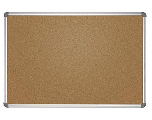 Pinnboard Office, Kork, 90x180 cm, Farbe: grau