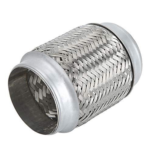 KIMISS gevlochten uitlaatbuis, 3,5 x 6 inch roestvrij staal flexibele uitlaatpijp gevlochten interne gegolfde buis