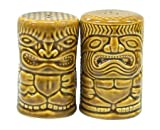 Ceramic Tiki Salt and Pepper Shaker Temple Image & God of Money