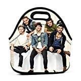 O-ne Dir-ection Lunch Bag Insulated Neoprene Lunch Box Thermal Tote Durable Reusable Bag Leakproof Lunch Pail for School Work College Picnic Hiking Beach Fishing