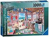 Ravensburger La cabaña de laplaya Puzzle 1000 Pz - Fantasy, Puzzle para adultos