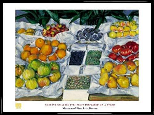 1art1 Gustave Caillebotte Poster Kunstdruck und Kunststoff-Rahmen - Fruit Displayed On A Stand (80 x 60cm)