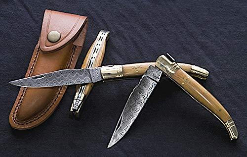 Taschenmesser Damastmesser Damast Messer Typ Laguiole
