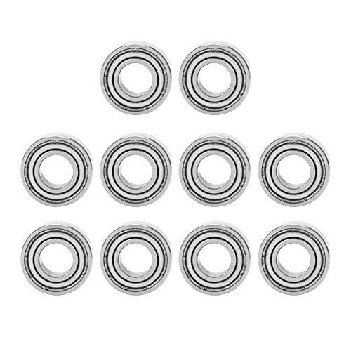 Kugellager, 10Pcs 686ZZ Hochgeschwindigkeits-Einzelsäule-Rillenkugellager Kugellager 6x 13x 5mm
