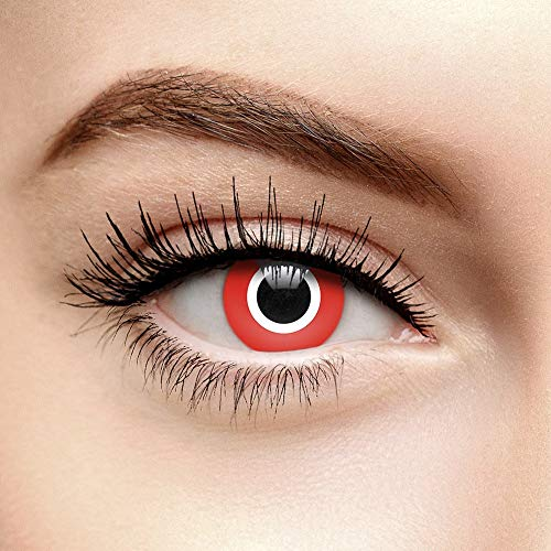 Lentes De Contacto De Color Rojo Assassin Halloween (1...