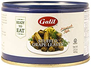 Galil Stuffed Grape Leaves Non-GMO, 14-Ounce Cans (Pack of 12)