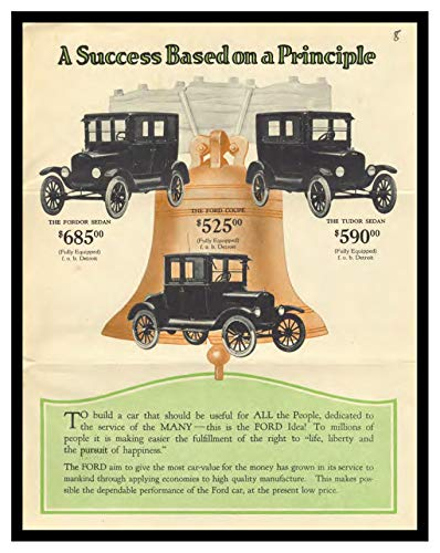 8 x 10 Framed Print 1924 Ford Freedom Mailer 04 Vintage Old Advertising Campaign Ads
