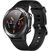 "Smart Watch, Fitness Tracker Watch with Heart Rate Monitor 5ATM Waterproof 1.3"" Touch Screen Smartwatch for Android and iOS Phones Sleep Tracker Yoga Step Counter for Women and Men Compatible iPhone"