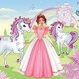 Consalnet Papier peint pour chambre d'enfant Motif princesse avec licornes Rose doré 13240VEXXL 312...