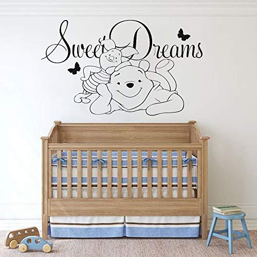 Winnie l'ourson décalque Porcinet Wsll autocollants pour chambre d'enfants Winnie l'ourson citations maison autocollant Sweet Dream Room décoration