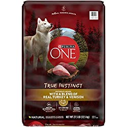 Purina ONE High Protein Natural Dry Dog Food; SmartBlend True Instinct With Real Turkey & Venison